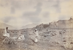 [Afridi tribesmen, at Fort Jamrud, North-West Frontier Province.]